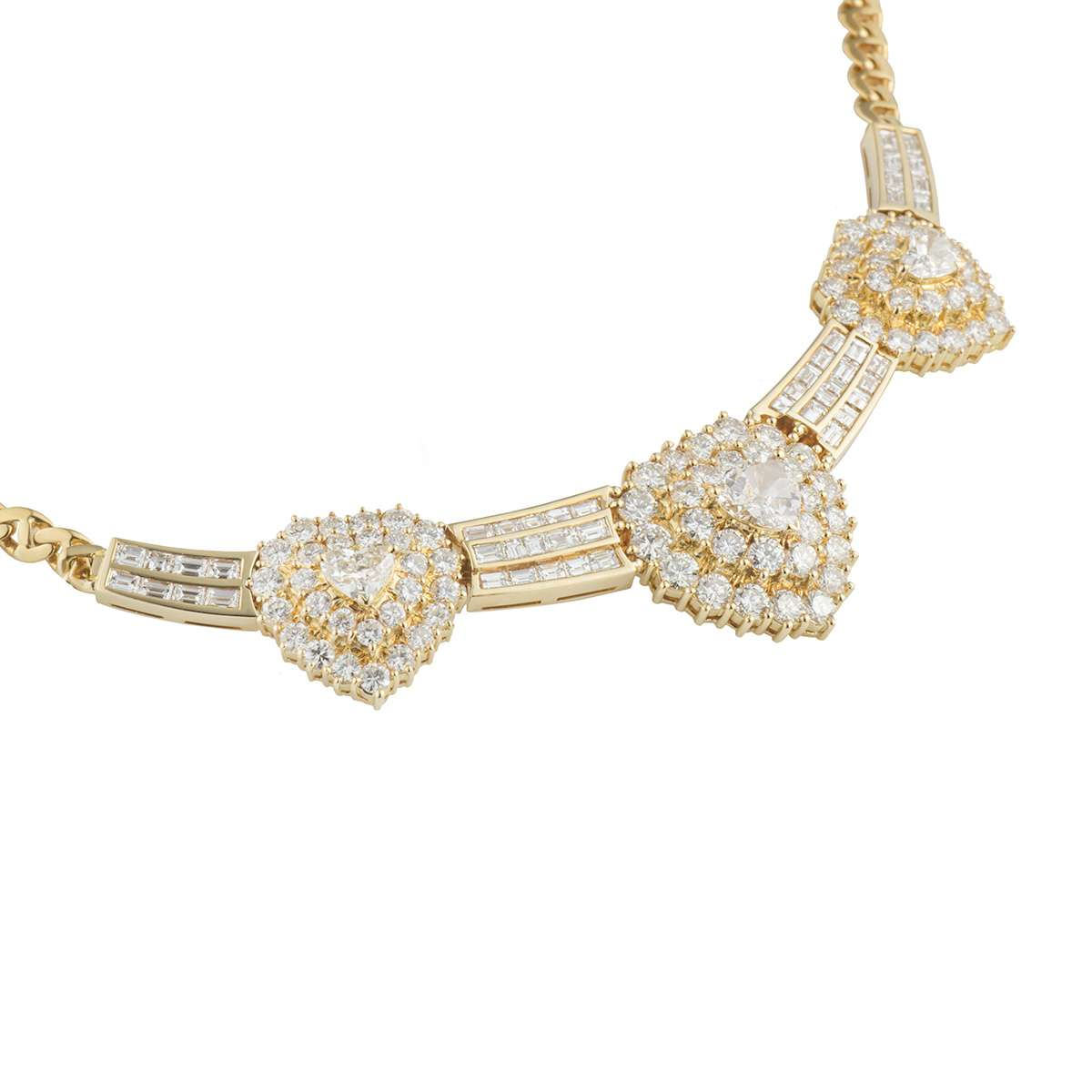 Yellow Gold Diamond Necklace 5.58ct